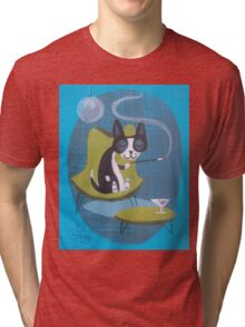 Boston Terrier At Home Tri-blend T-Shirt