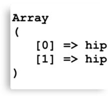 Hip Hip Hooray Programming Array  Canvas Print