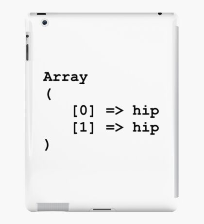 Hip Hip Hooray Programming Array  iPad Case/Skin