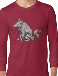 grumpy  morning wolf Long Sleeve T-Shirt