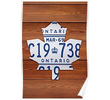 Toronto Maple Leafs Vintage License Plate Art - Cherry Poster