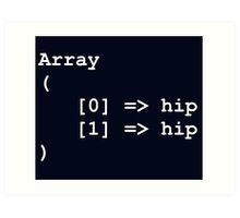 Hip Hip Hooray Programming Array  Art Print