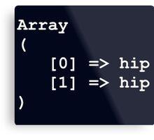 Hip Hip Hooray Programming Array  Metal Print