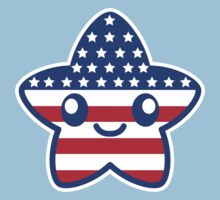 Fourth Of July Patriotic Cute Cartoon Star Kids Clothes