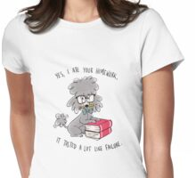 Professor Poodle Womens Fitted T-Shirt