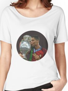 cristiano ronaldo in hole Women's Relaxed Fit T-Shirt