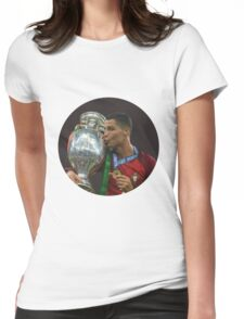 cristiano ronaldo in hole Womens Fitted T-Shirt