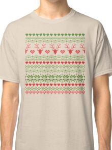 80's Christmas Knitted Sweater Design Classic T-Shirt