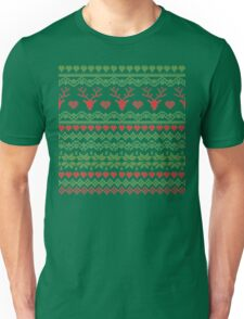 80's Christmas Knitted Sweater Design Unisex T-Shirt