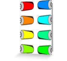 Spray Can Sticker Kit (8 Colorful Cans) Greeting Card