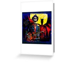 BLUES MAN Greeting Card