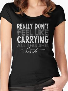 A Letter From Santa Women's Fitted Scoop T-Shirt
