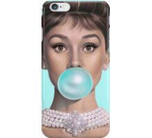 Hot Blue Audrey iPhone Case/Skin