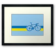 Bike Stripes Ukraine Framed Print
