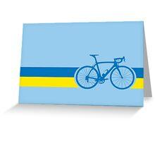 Bike Stripes Ukraine Greeting Card