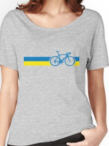 Bike Stripes Ukraine Women's Relaxed Fit T-Shirt