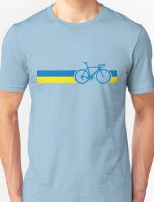 Bike Stripes Ukraine Unisex T-Shirt