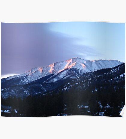 Mountain Sun Set  Poster