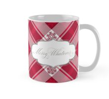 Merry Whatever - Snlowflake Plaid Red Mug