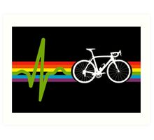 Bike Stripes Dark Side Art Print