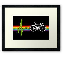Bike Stripes Dark Side Framed Print