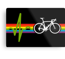Bike Stripes Dark Side Metal Print