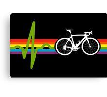 Bike Stripes Dark Side Canvas Print