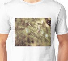 Large tropical spider in the web Unisex T-Shirt