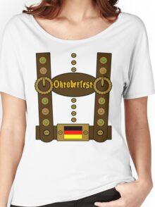 Oktoberfest Lederhosen Funny Women's Relaxed Fit T-Shirt
