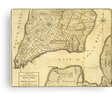 Map of New York - 1776 Canvas Print