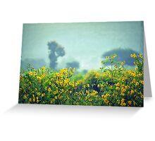 Mustard Fields Greeting Card