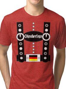 Oktoberfest Lederhosen Funny BW Tri-blend T-Shirt