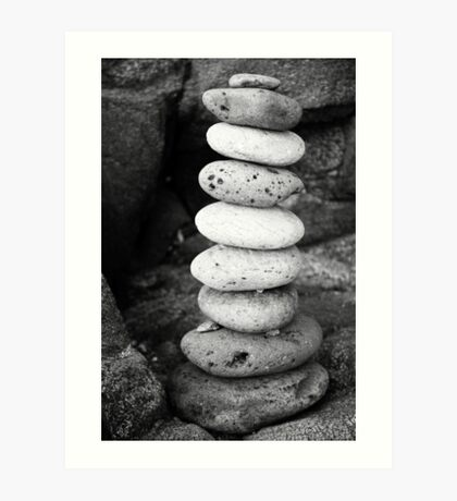 Stacked pebbles Art Print