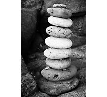 Stacked pebbles Photographic Print