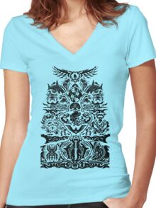 Tatau/Tattoo Women's Fitted V-Neck T-Shirt