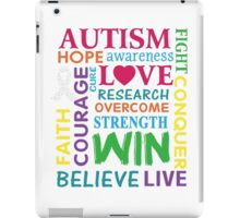 Autism Awareness Walk Slogan T-shirt iPad Case/Skin