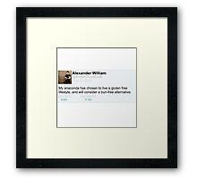 Alex Gaskarth tweet anaconda Framed Print