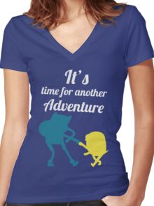 It's Adventure Time! Women's Fitted V-Neck T-Shirt