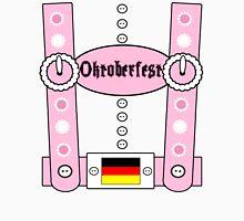Oktoberfest Lederhosen Funny Pink Unisex T-Shirt
