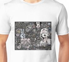 Marilyn doodle warm and cool grays Unisex T-Shirt