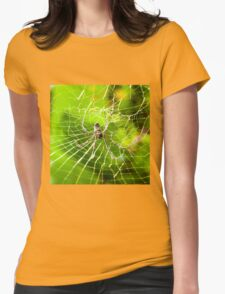Large tropical spider in the web Womens Fitted T-Shirt