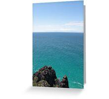ocean rock. Greeting Card