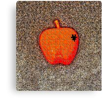 The Missing Piece Of Apple Canvas Print