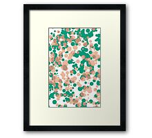 Popdots Green Framed Print