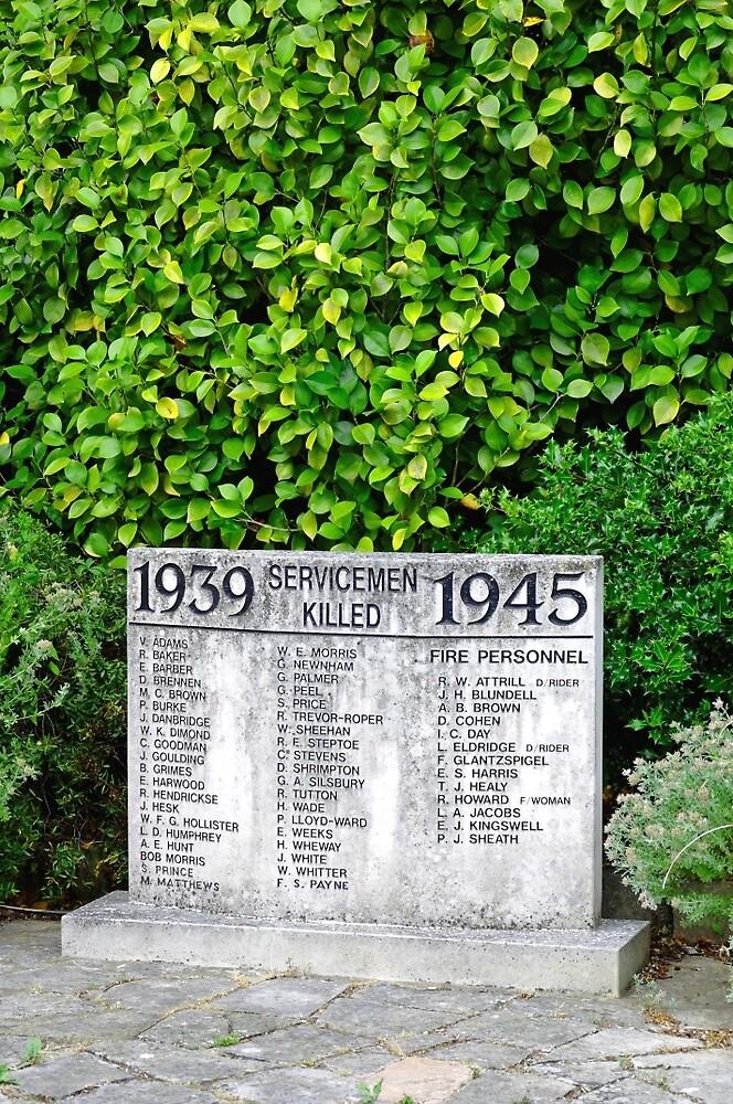 War Memorial Tablet, Shanklin by Rod Johnson