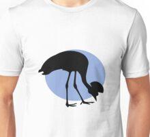 Emu or ostridge on a blue sun Unisex T-Shirt