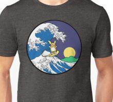 The Great Wave of Alola (Night) -Black Border Unisex T-Shirt