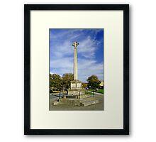 War Memorial at Broadway, UK  Framed Print