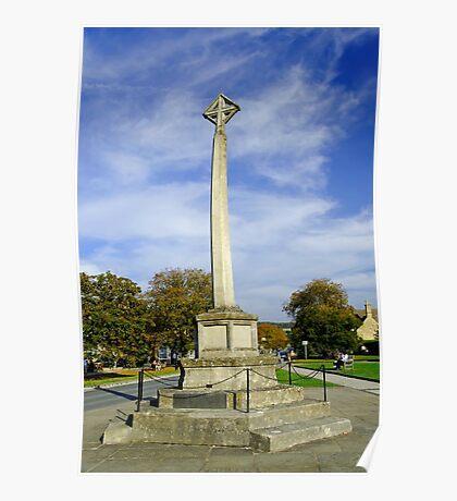 War Memorial at Broadway, UK  Poster