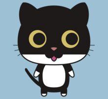 Black cat is happy Kids Tee